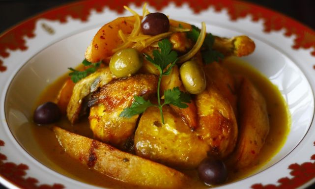 طريقة عمل طاجن الدجاج المغربي