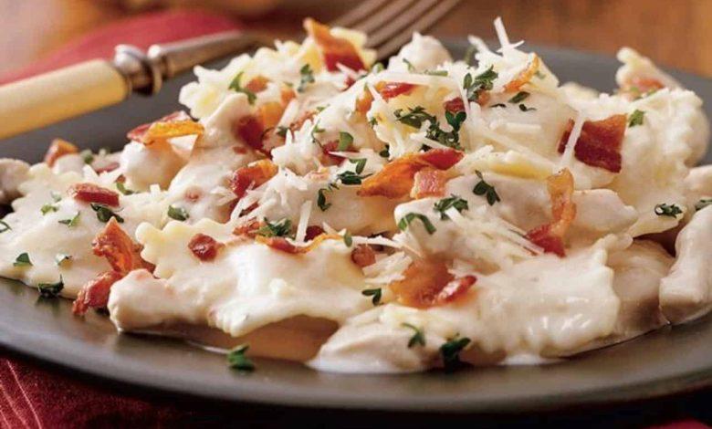 طريقة عمل رافيولي بالسبانخ والجبن