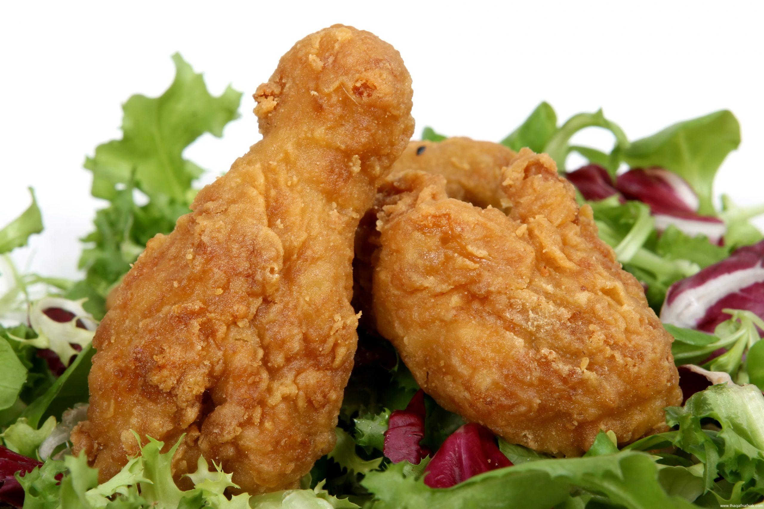 طريقة عمل دبابيس الدجاج المقلية بالصور