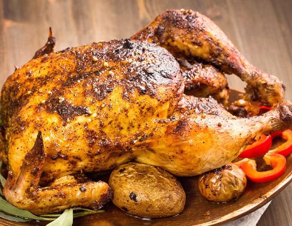 طريقة تحضير الدجاج المشوي بالقصدير