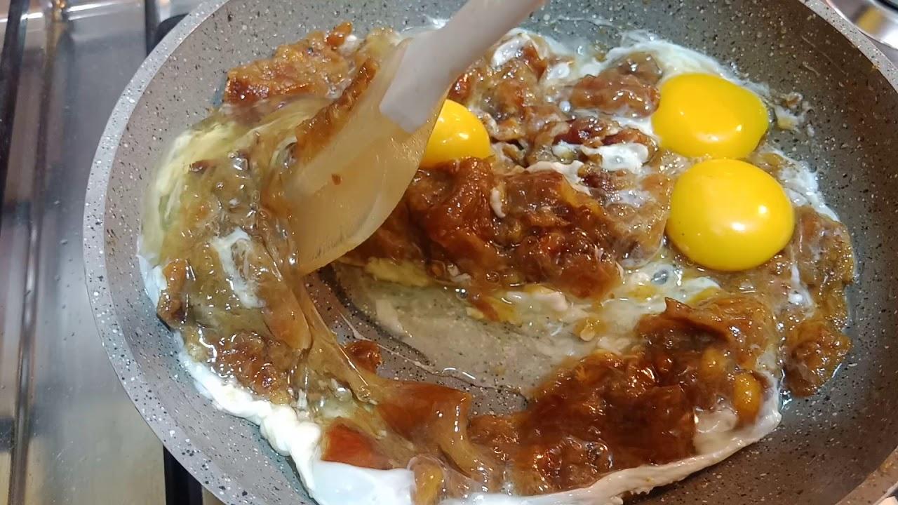 طريقة عمل طبق بيض بالعجوة