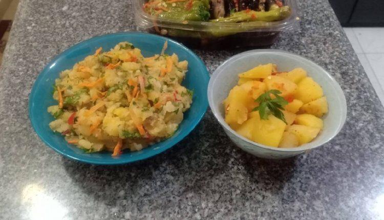 سلطة البطاطس طريقة سهلة وسريعة