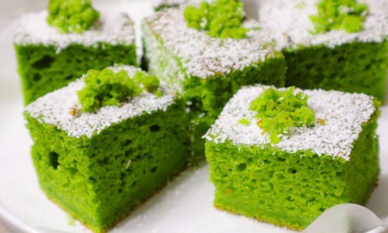 طريقة عمل كيكة الشاي الأخضر