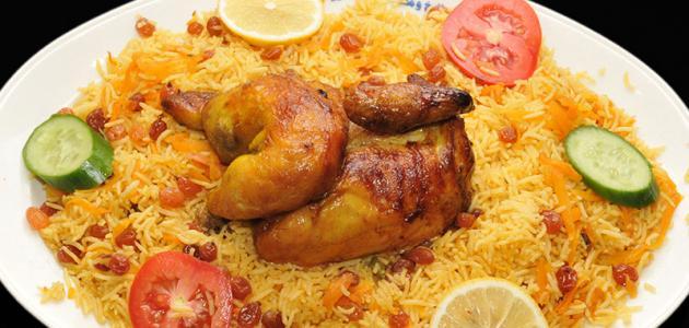 الأرز المدخن بالدجاج