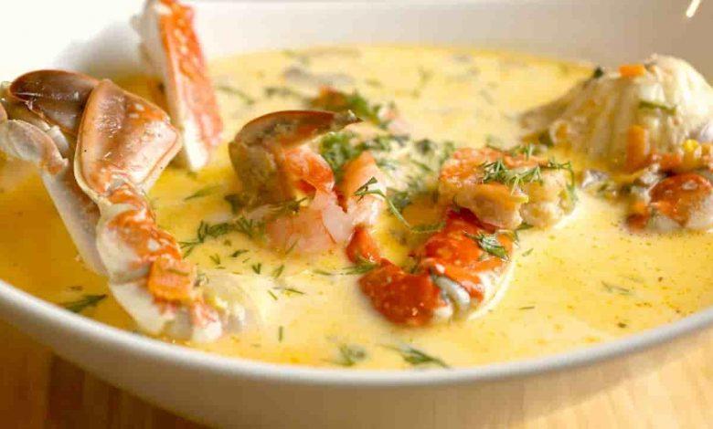 طريقة عمل حساء الكابوريا
