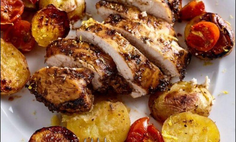 شرائح الدجاج المشوي للرجيم