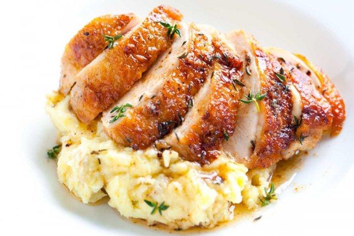ستيك الدجاج بالكريمة لايت